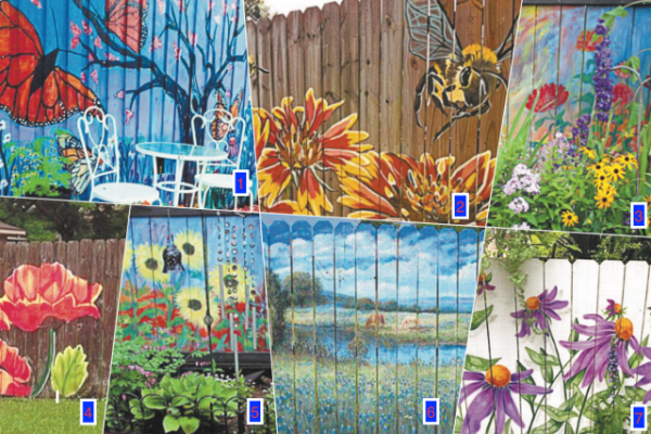 Шедевр семейного искусства. Как украсить забор на участке