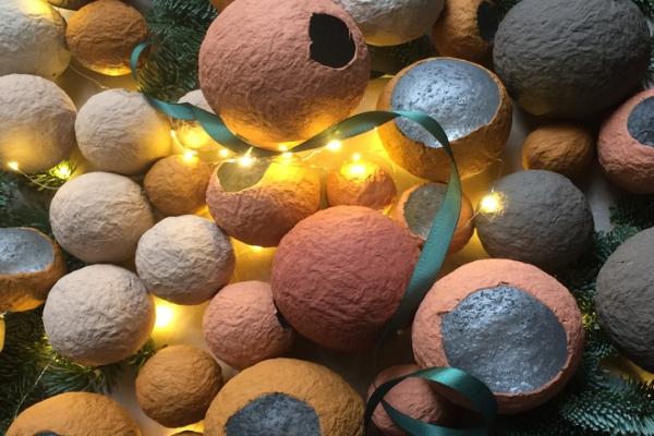 Экологичная альтернатива: новогодние игрушки из целлюлозы
