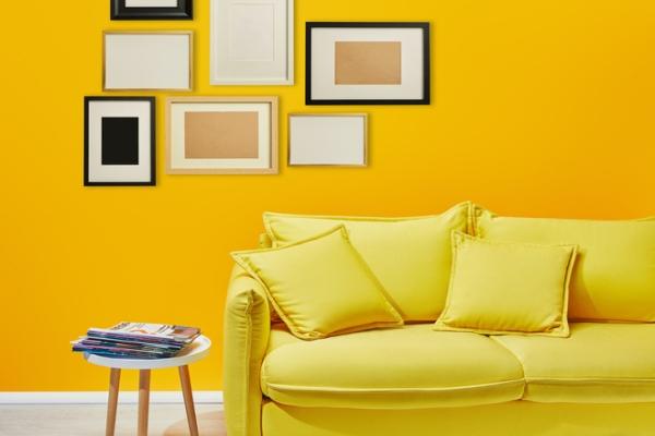 Солнце в доме: желтый цвет в дизайне интерьера