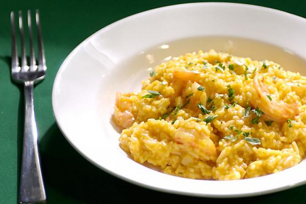 Сливочно-морковный рис с пармезаном