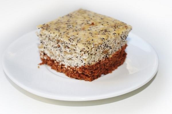 Насыпной пирог без теста с маковой начинкой