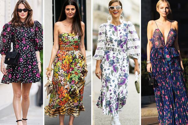 Для лета и не только: самые модные платья с цветочным принтом