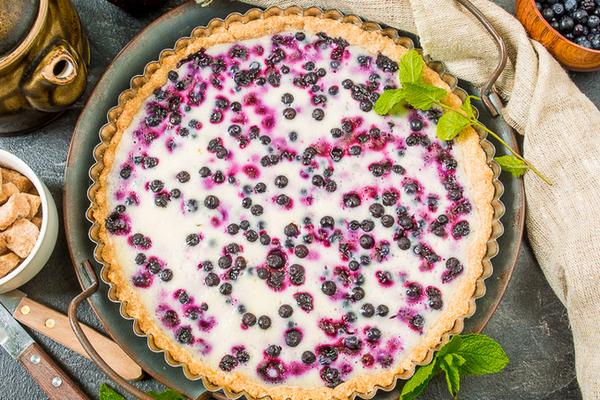Легкий черничный пирог по рецепту финских хозяюшек