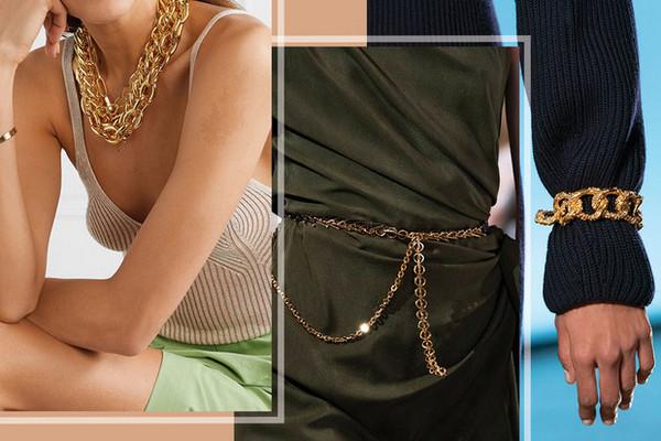 Как носить крупные цепи: 4 самых модных варианта