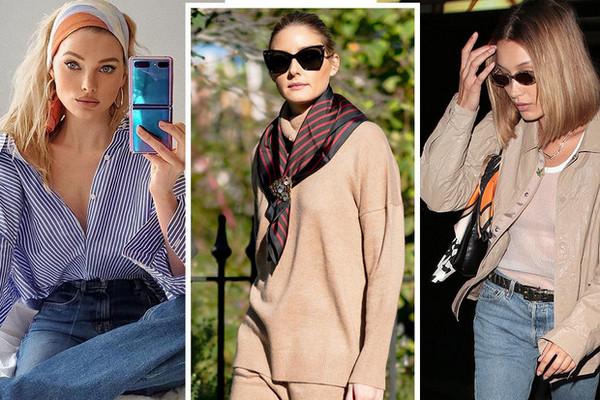 Любимый аксессуар: как звезды носят шелковые платки