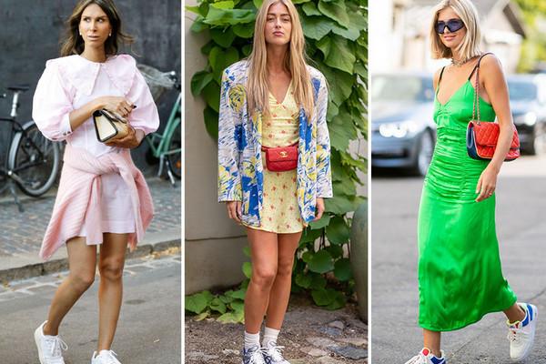 Какие платья можно носить с кроссовками: советы стилиста