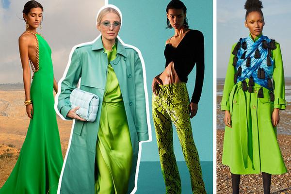 Как носить ярко-зеленый цвет — самый модный в этом сезоне